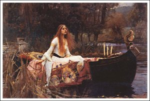 The Lady of Shallott (1888) by John Waterhouse