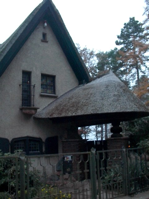 Entrance of Thatch Roofed House by Red Haircrow